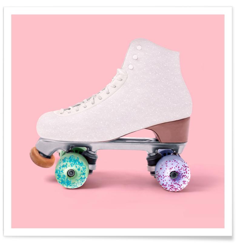 , Roller Donut Poster