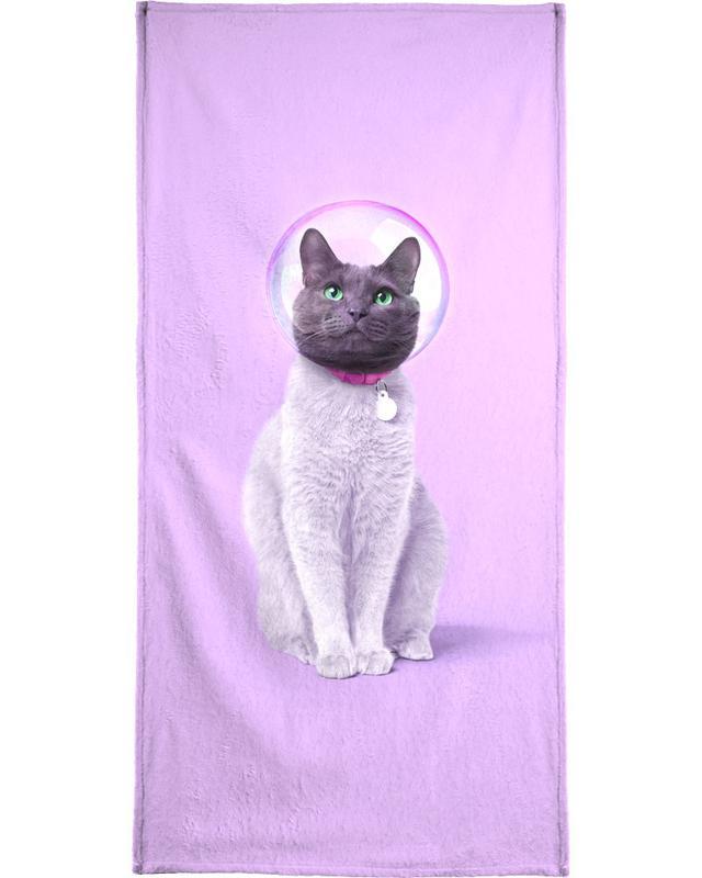 Space Cat Beach Towel