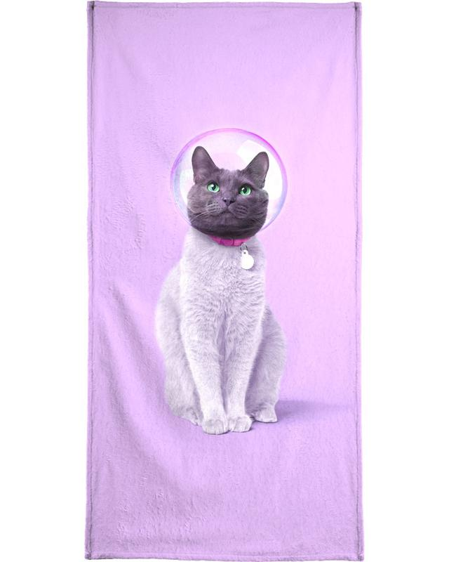 Nursery & Art for Kids, Cats, Astronauts, Space Cat Bath Towel