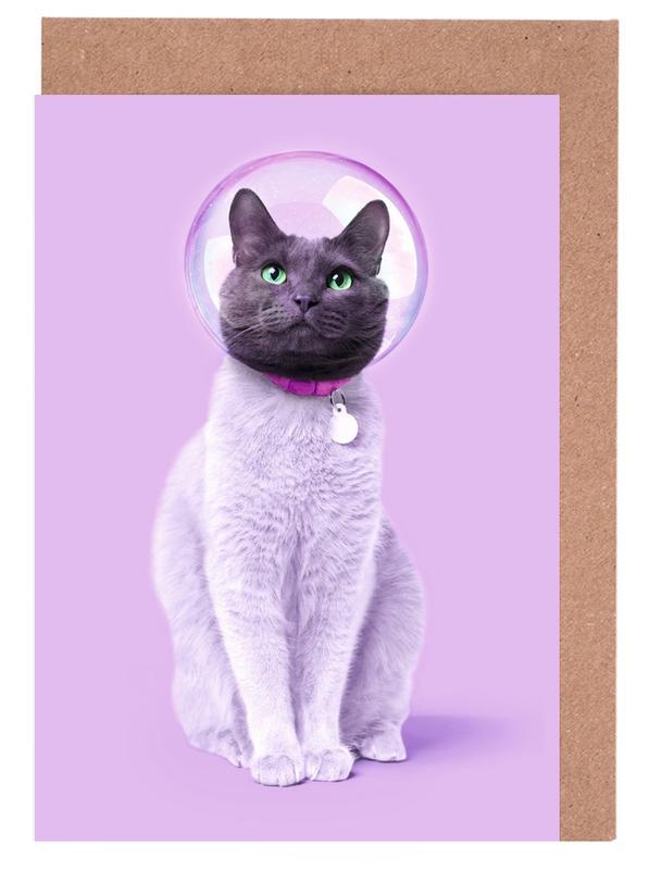 Space Cat -Grußkarten-Set