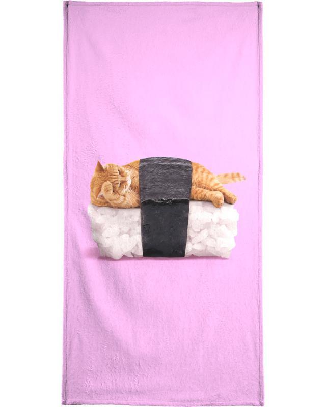 Cats, Sushi Cat Bath Towel