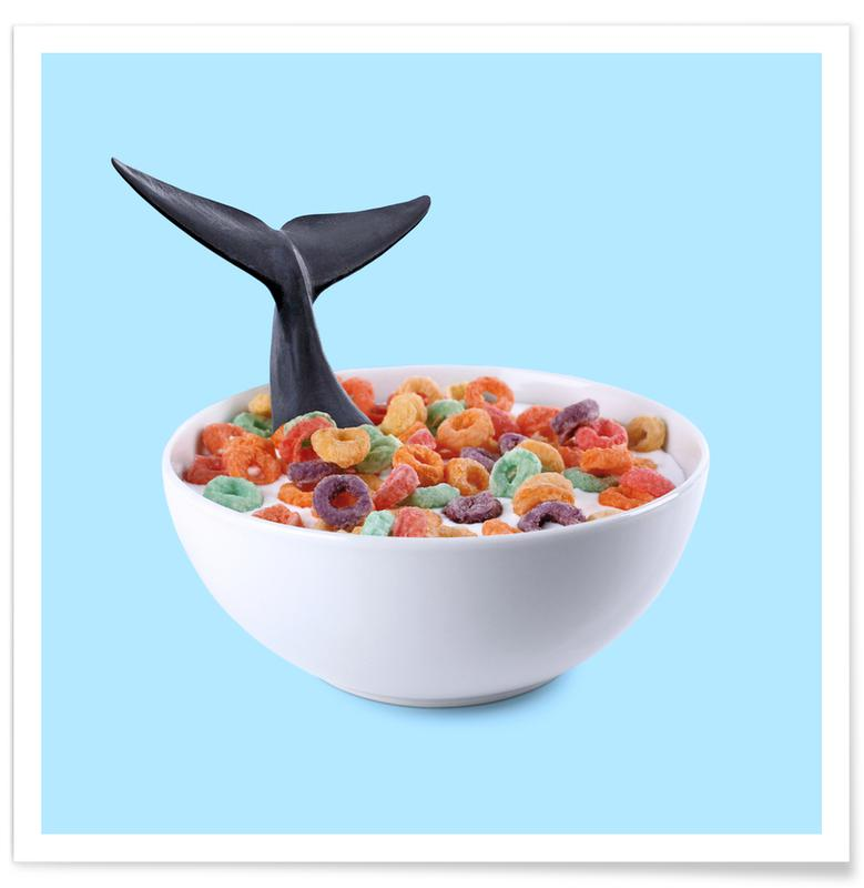Whale Cereal -Poster