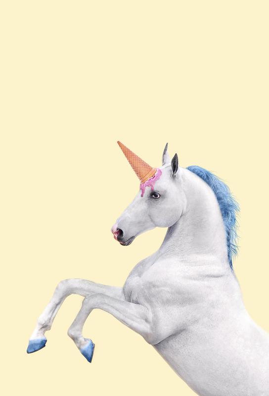 Ice Cream Unicorn acrylglas print