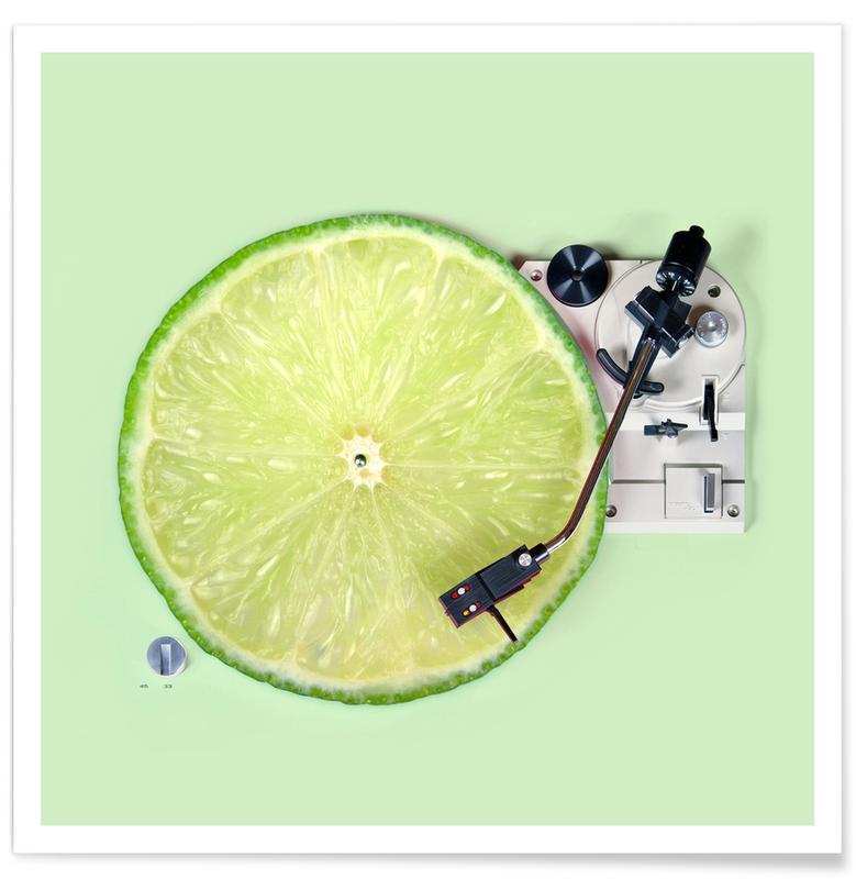 Zitronen, Lustig, Lemon DJ -Poster