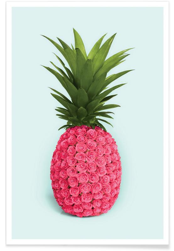 Pineapple Roses Poster
