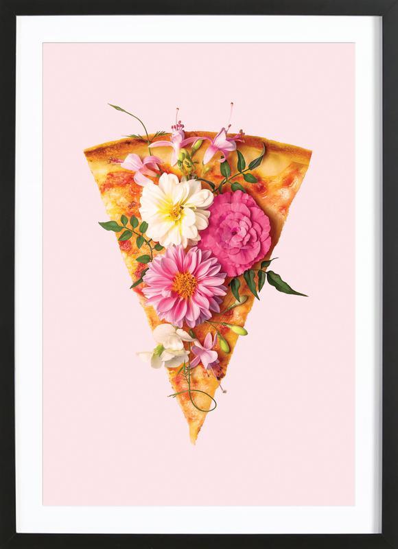 Floral Pizza ingelijste print