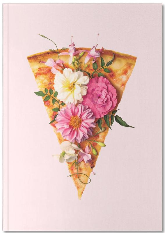 Floral Pizza Notebook