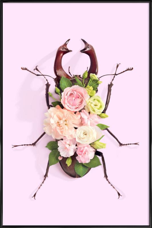 Floral Beetle Framed Poster