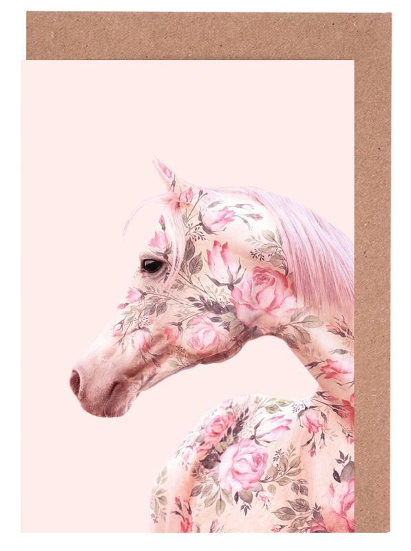 Floral Horse -Grußkarten-Set