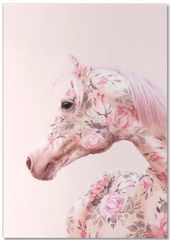 Floral Horse -Notizblock