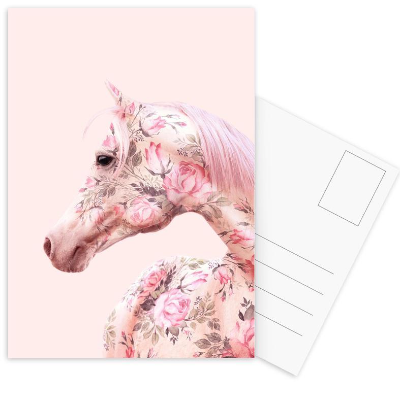 Floral Horse cartes postales