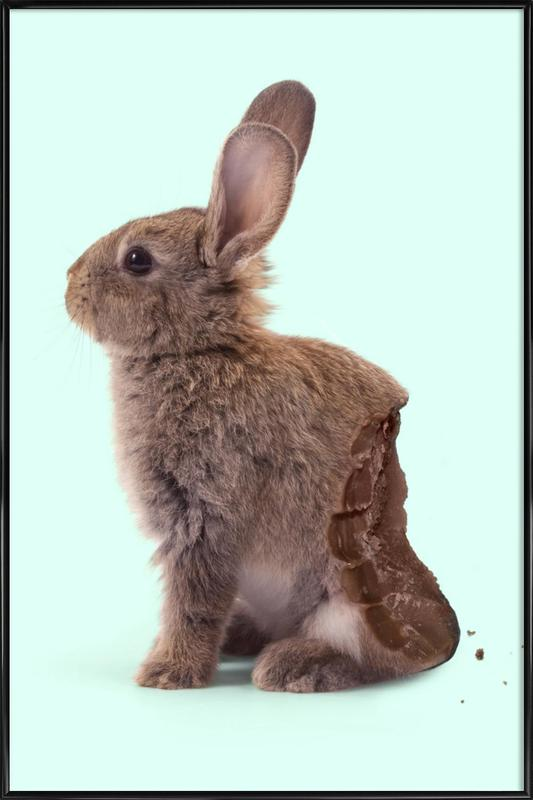 Chocolate Rabbit Framed Poster