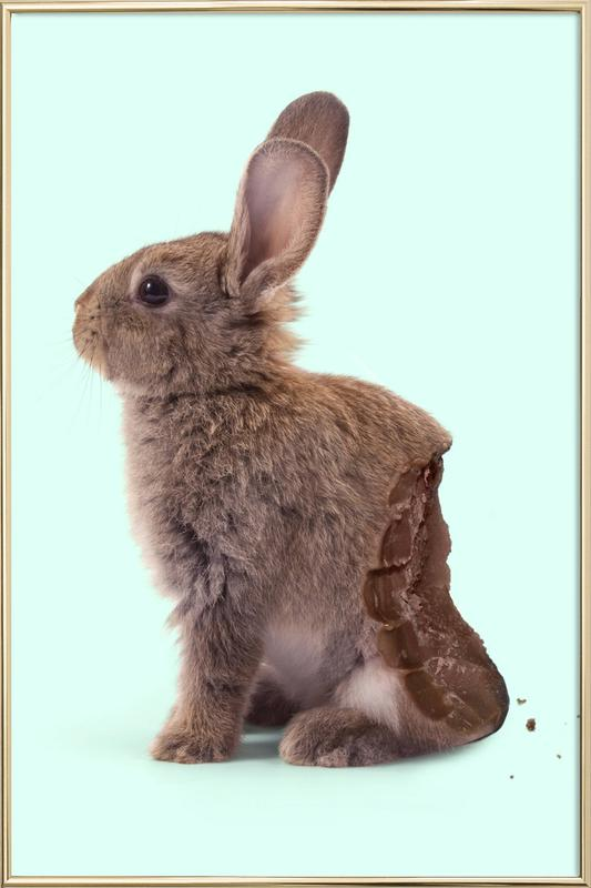 Chocolate Rabbit Poster in Aluminium Frame