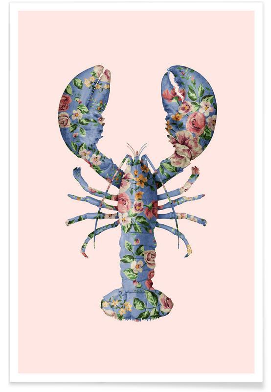 Floral Lobster poster