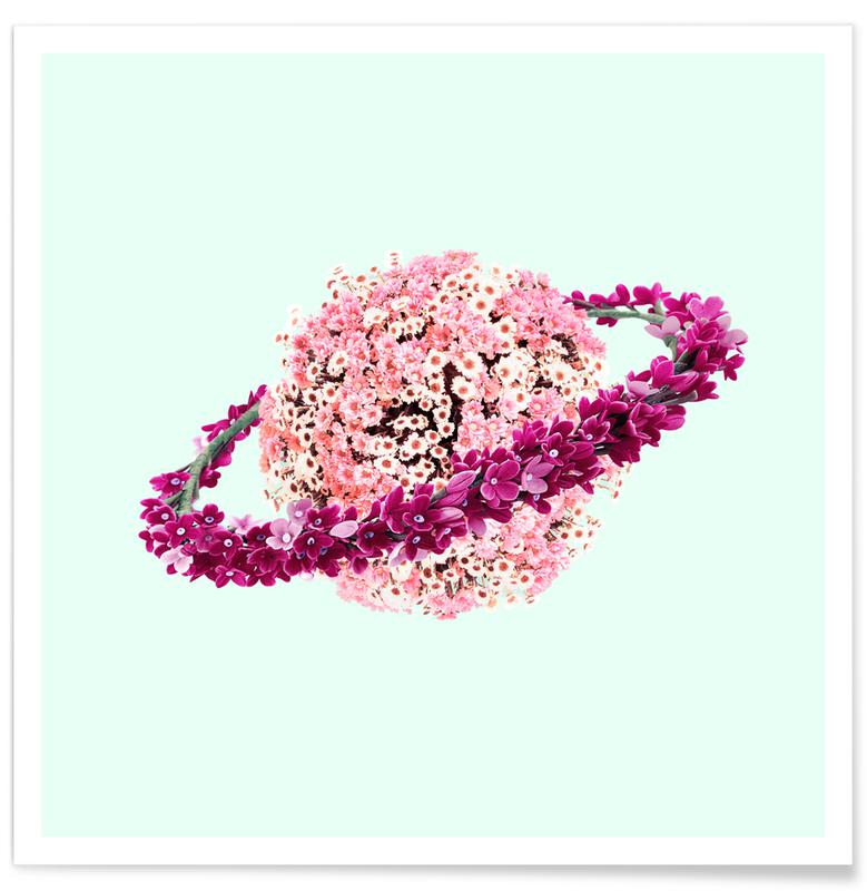 , Floral Planet poster