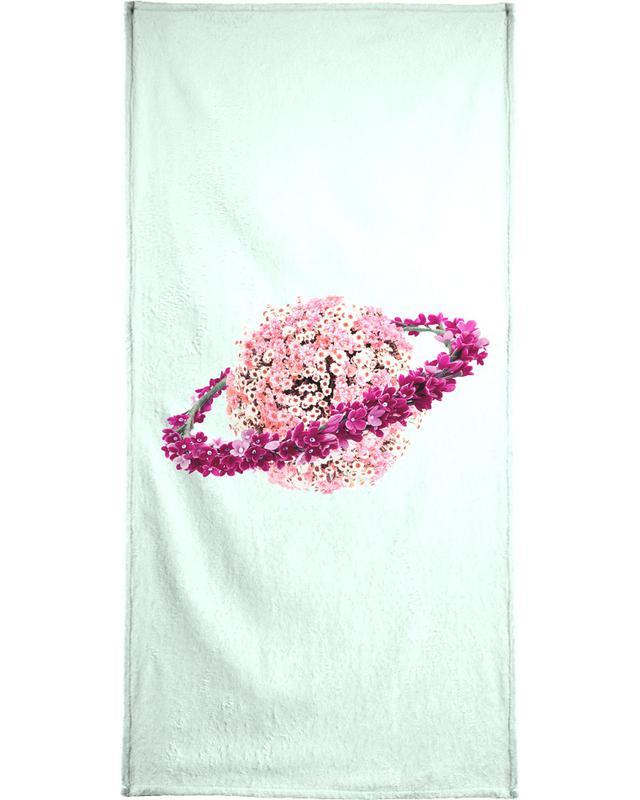 , Floral Planet Bath Towel