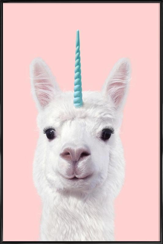 Alpaca Unicorn affiche encadrée