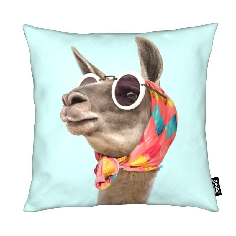 Lamas, Art pour enfants, Fashion Llama coussin