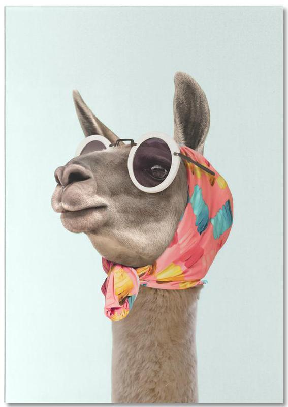 Lama, Kinderzimmer & Kunst für Kinder, Fashion Llama -Notizblock