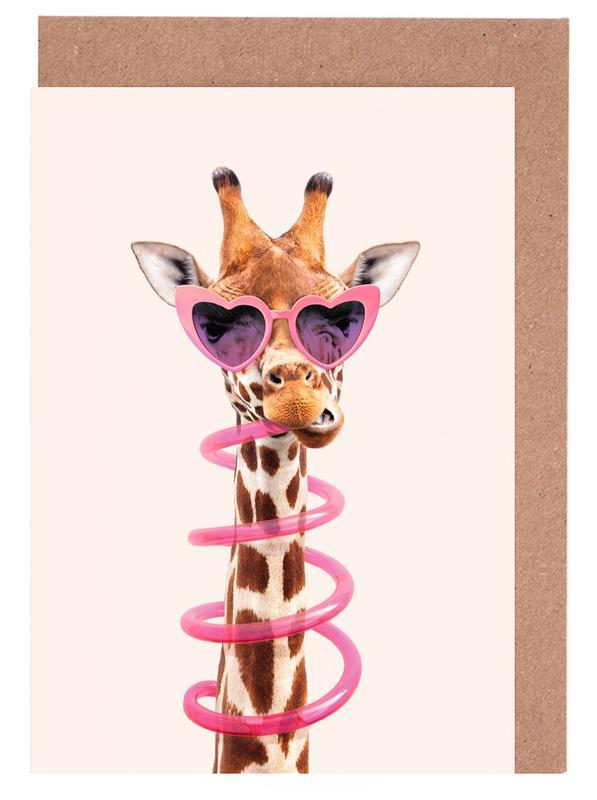 Thirsty Giraffe -Grußkarten-Set