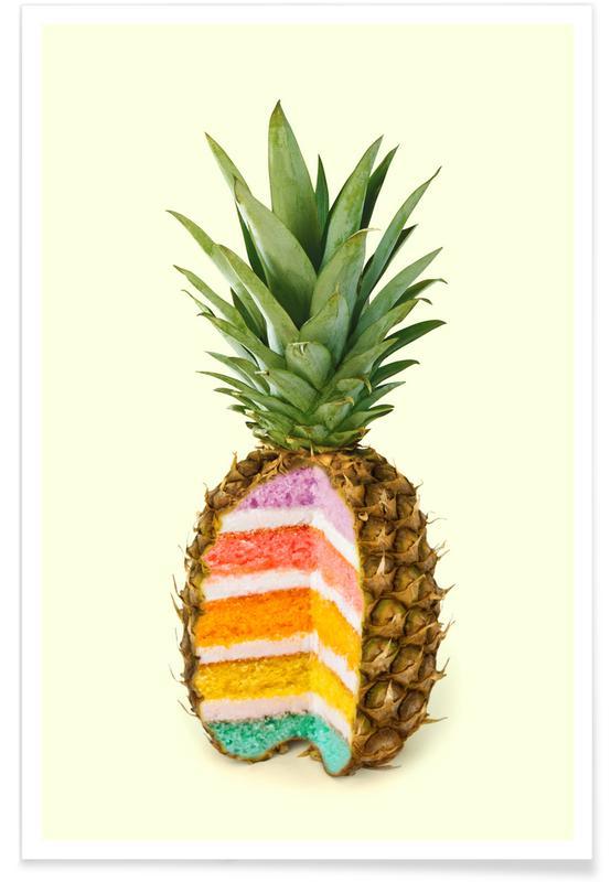 Motiverende, Kager, Ananas, Humor, Pineapple Cake Plakat