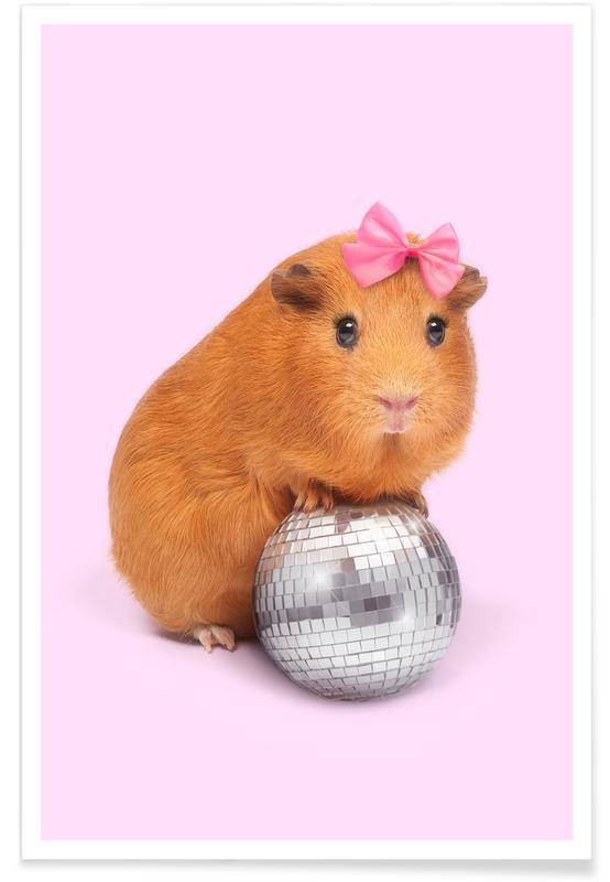 Pop Art, Kuchen, Lustig, Party Animal -Poster