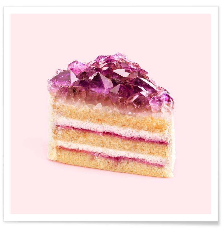 Cakes, Pop Art, Funny, Quartz Cake Poster