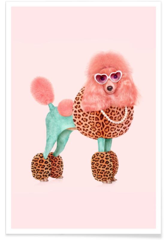 Humour, Gâteaux, Pop Art, Funky Poodle affiche