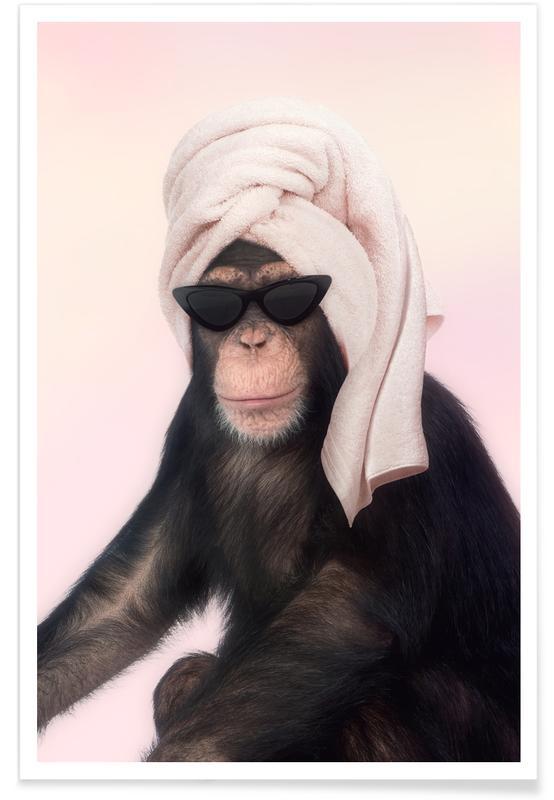 Humour, Gâteaux, Pop Art, Chimp affiche