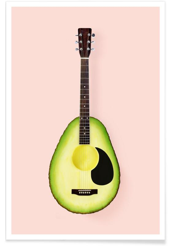 Avocado Guitar Poster