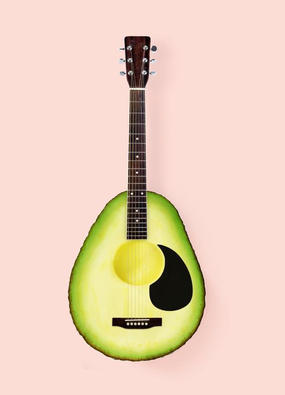 Avocado Guitar Canvas Print