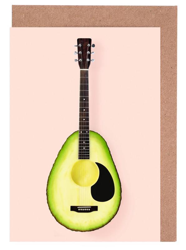 Avocado Guitar Greeting Card Set