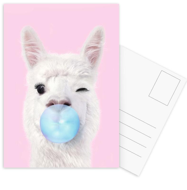 Humour, Gâteaux, Pop Art, Bubblegum Lama cartes postales