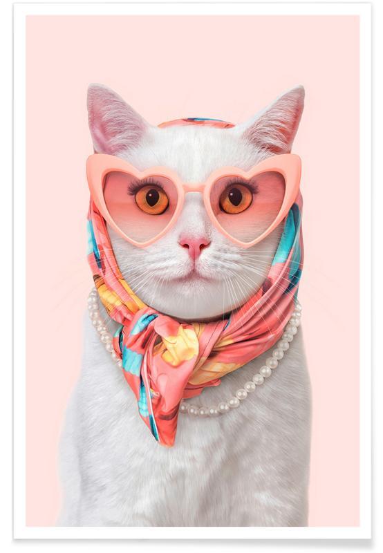 Lustig, Katzen, Fashion Cat -Poster