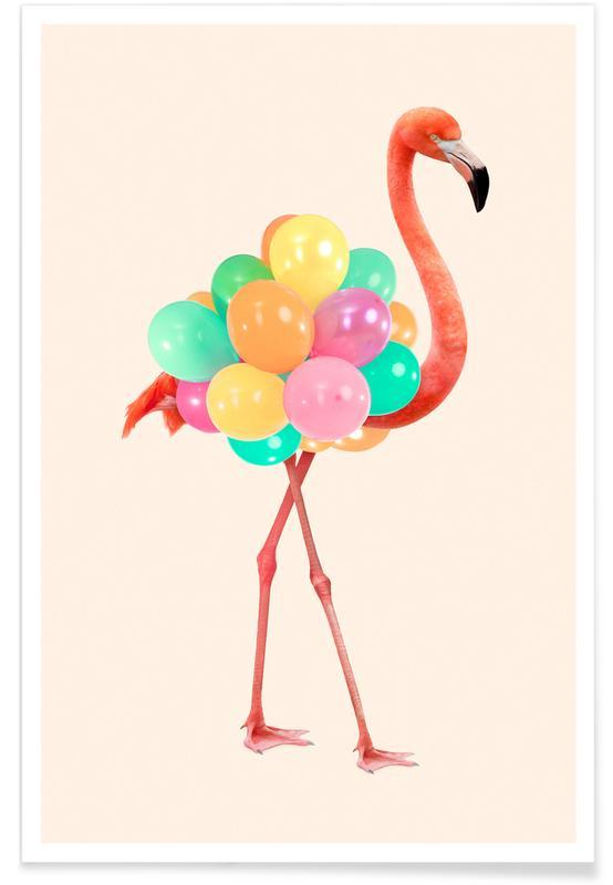 Flamingos, Funny, Flamingo Party Poster
