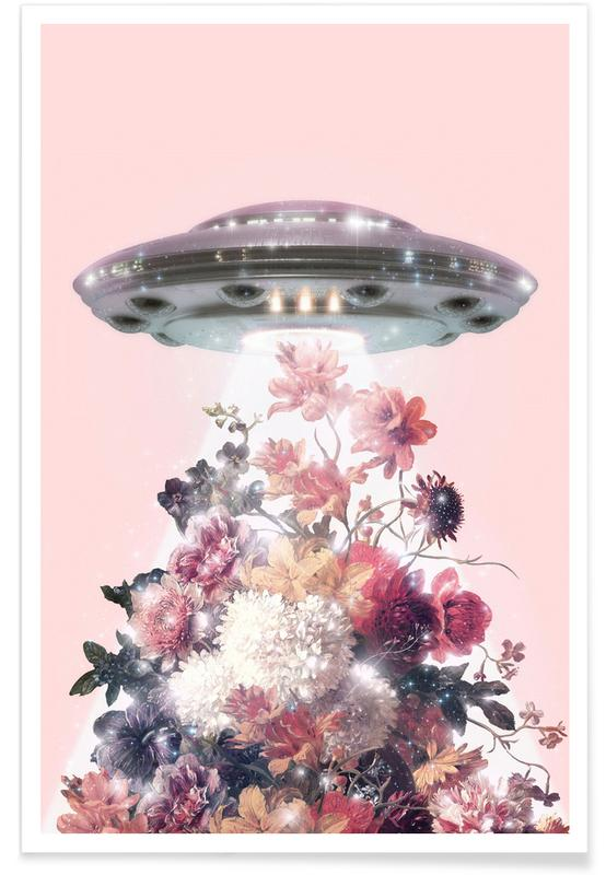 , Floral Ufo poster
