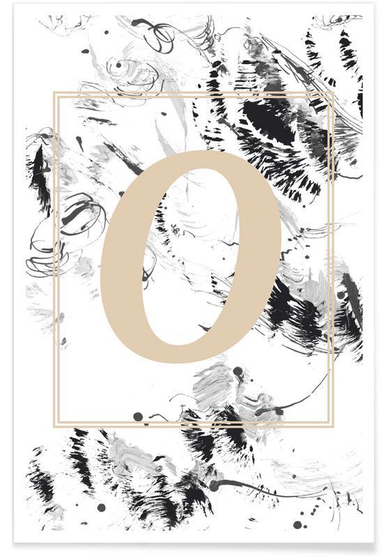 Alfabet en letters, O poster