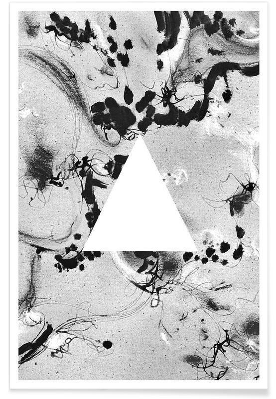 Zwart en wit, Triangle poster