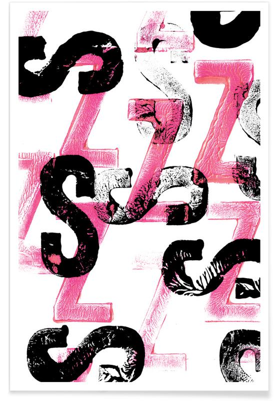 Alfabet en letters, SZ poster