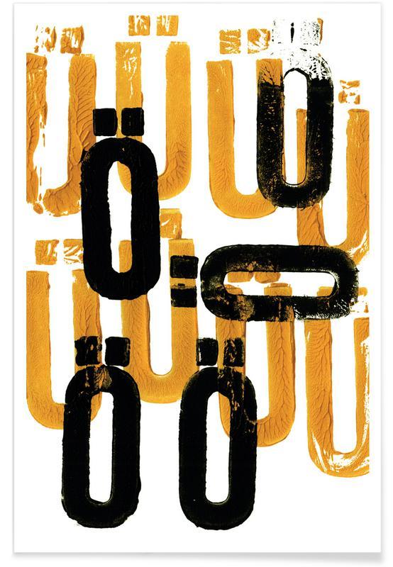 Alfabet en letters, ÜÖ poster