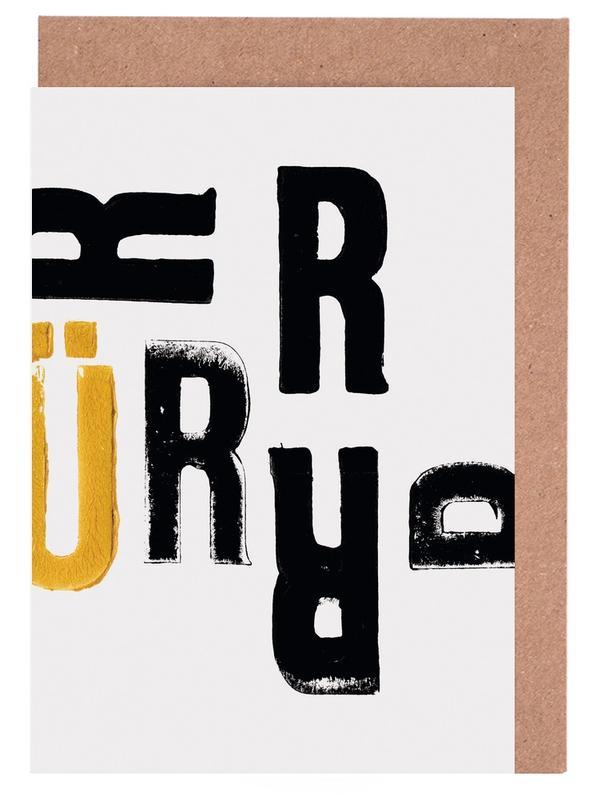 RÜ Greeting Card Set