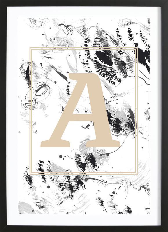 A -Bild mit Holzrahmen
