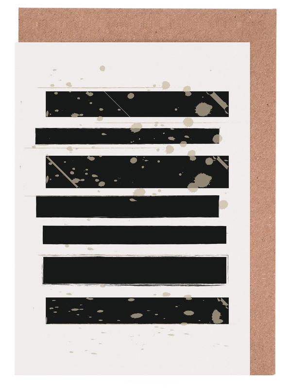 Smudged Stripes -Grußkarten-Set