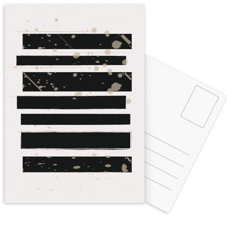 Smudged Stripes Postcard Set