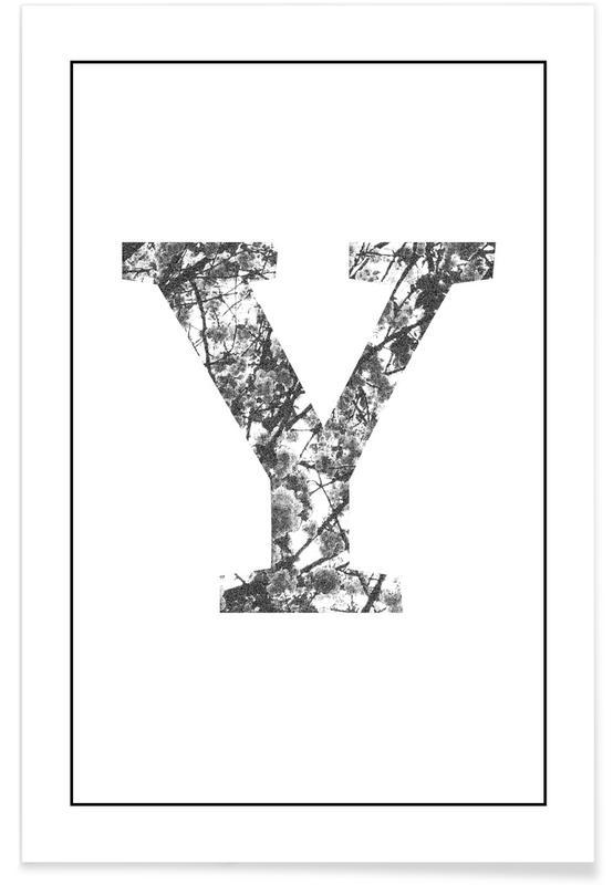 Alphabet et lettres, Y affiche