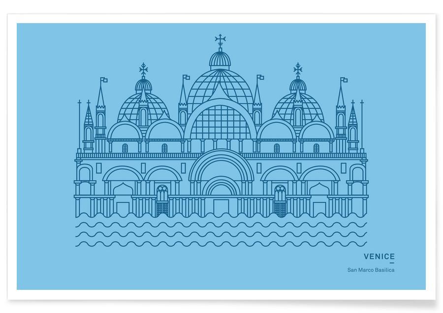 Venise, Monuments et vues, Basilique San Marco affiche