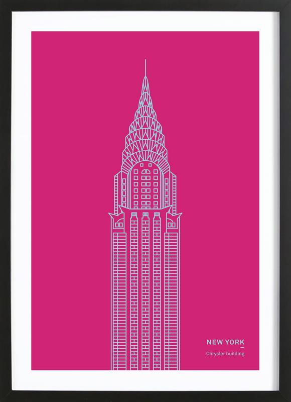 New York Pink ingelijste print
