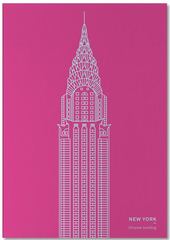 New York Pink Notepad