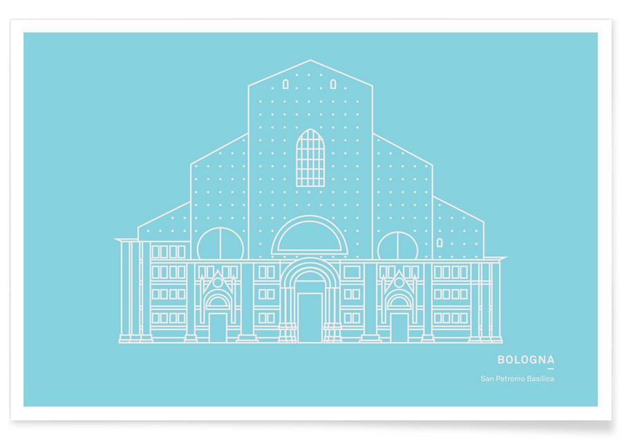 Sehenswürdigkeiten & Wahrzeichen, San Pedro Basilika -Poster
