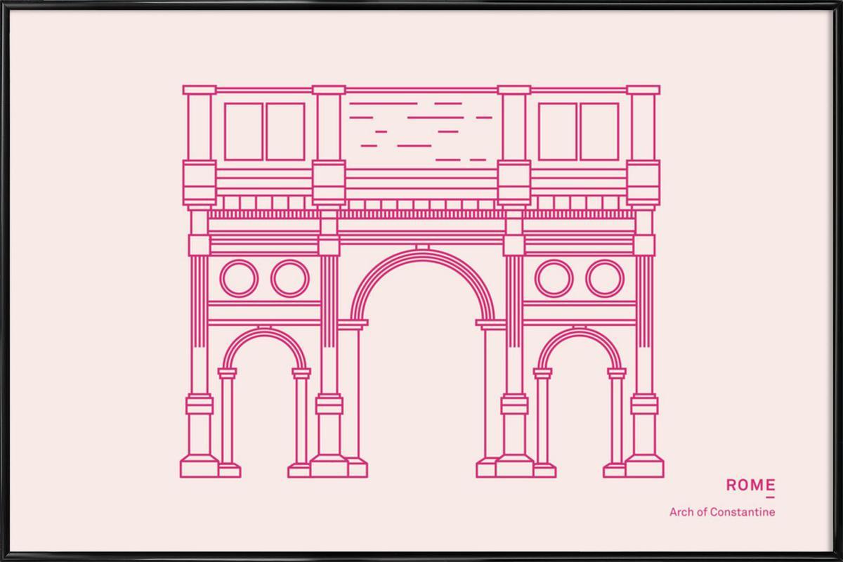 Rome -Bild mit Kunststoffrahmen